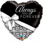 """18"""" / 46cm Always And Forever Qualatex #17084"""