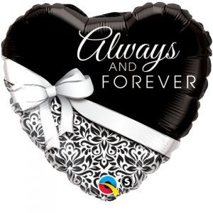 "18"" / 46cm Always And Forever Qualatex #17084"