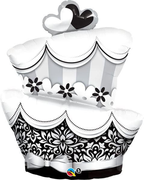 "41"" / 104cm Fun & Fabulous Wedding Cake Qualatex #17096"