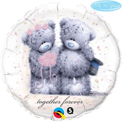 """18"""" / 46cm Me To You - Tatty Teddy Together Forever Qualatex #20794"""