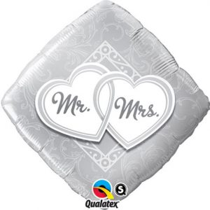 "18"" / 46cm Mr. & Mrs. Entwined Hearts Qualatex #25317"