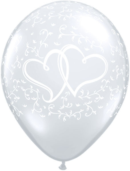 Entwined Hearts - Diamond Clear Qualatex