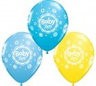 "11"" / 28cm 25ct / 25szt Baby Boy Dots Qualatex #18506"