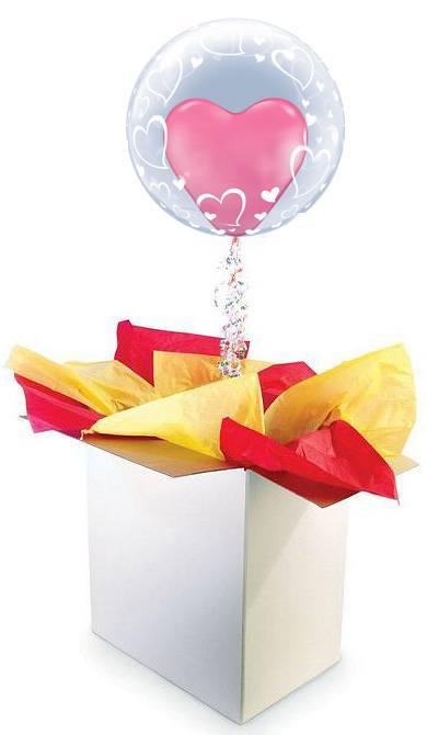 24″ / 61cm poczta balonowa Prestige z Balonem Double/Deco Bubble #Double/Deco Prestige