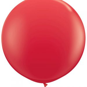 3' / 91cm 1ct / 1szt Solid Colour Latex Red Qualatex #42554