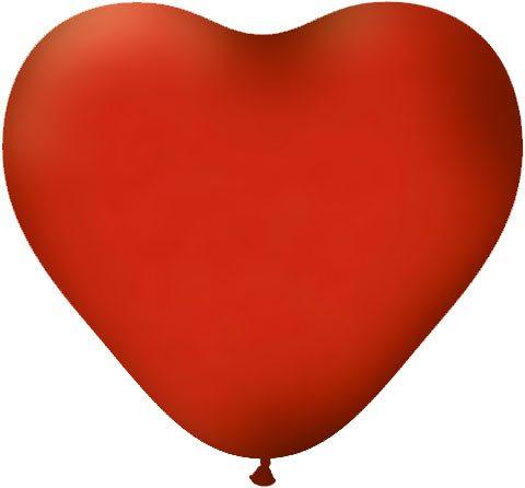 16″ / 40cm Serce Standardowe Pastel Czerwony #99956