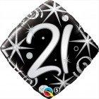 "18"" / 46cm 21 Elegant Sparkles & Swirls Qualatex #29998"