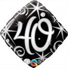 "18"" / 46cm 40 Elegant Sparkles & Swirls Qualatex #30012"