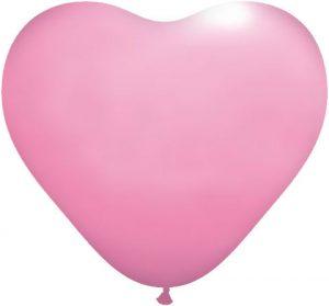"11"" / 28cm Serce Standardowe Pastel Różowy #S131"