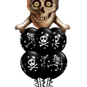 "Bukiet 67# - 32"" / 81cm Skull & Cross Bones Qualatex #15182, 33249_6"