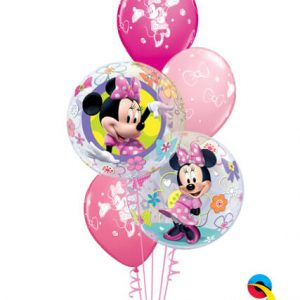 "Bukiet 59# - 22"" / 56cm Disney Minni Mouse Bow-Tique Qualatex #41065_2, 18685_3"