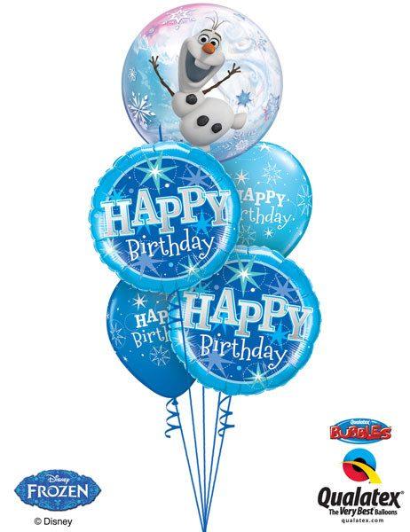 Bukiet 64# – 22″ / 56cm Disney Frozen Qualatex #32688_1, 37919_2, 38858_2