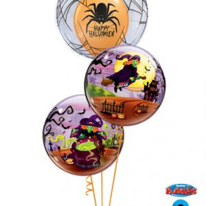 "Bukiet 73# - 24"" / 61cm Deco Bubble - Spider's Web Qualatex #17392, 50544_2"