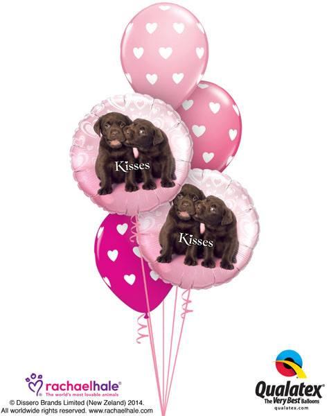 Bukiet 47# – 18″ / 46cm Puppy Kisses Qualatex #34075_2, 27051_2