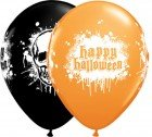 "11"" / 28cm 25ct / 25szt Halloween Haunted Skull Qualatex #19960"