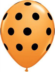 """11"""" / 28cm 25ct / 25szt Big Polka Dots Qualatex #23017"""
