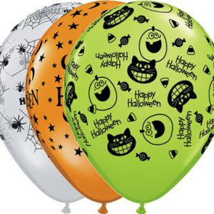 "11"" / 28cm 25ct / 25szt Halloween Assortment Qualatex #27524"