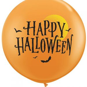 3' / 91cm 2ct / 2szt Halloween Moon & Bats Qualatex #31465