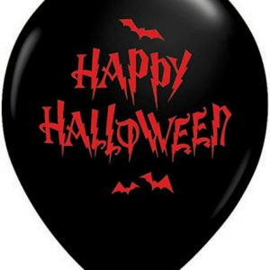 "11"" / 28cm 25ct / 25szt Haunted Halloween Bats Qualatex #32044"