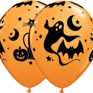 "11"" / 28cm 25ct / 25szt Fun & Spooky Icons Qualatex #40071"