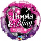 "18"" / 46cm Boots & Bling Qualatex #16952"