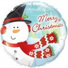 "18"" / 46cm Merry Christmas Snowman Qualatex #18867"
