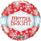 "18"" / 46cm Merry & Bright Snowflakes Qualatex #18945"