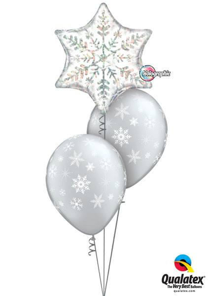 "Bukiet 97 - 22"" / 56cm Dazzling Snowflake Qualatex #20263, 40800_2"