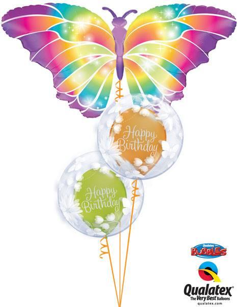 Bukiet 93# – 44″ / 111cm Luminous Butterfly Qualatex #11656, 11560_2, 19166_2