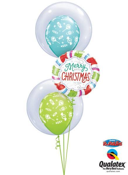 """Bukiet 103 - 24"""" / 61cm Deco Bubble Clear & Merry Little Christmas Qualatex #68825_2, 18953"""