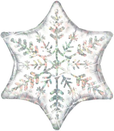 "22"" / 56cm Dazzling Snowflake Qualatex #20263"