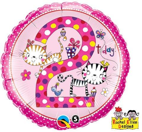 "18"" / 46cm Rachel Ellen - Age 2 Kittens Polka Dots Qualatex #23036"