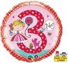 """18"""" / 46cm Rachel Ellen - Age 3 Princess Polka Dots Qualatex #23475"""