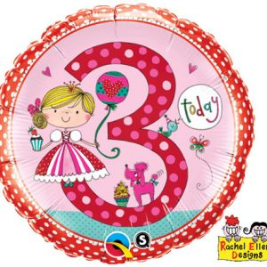 "18"" / 46cm Rachel Ellen - Age 3 Princess Polka Dots Qualatex #23475"