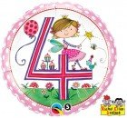 "18"" / 46cm Rachel Ellen - Age 4 Fairy Polka Dots Qualatex #23913"