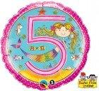 "18"" / 46cm Rachel Ellen - Age 5 Mermaid Dots Qualatex #24146"