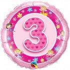 """18"""" / 46cm Age 3 Pink Fairies Qualatex #26297"""