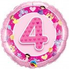 "18"" / 46cm Age 4 Pink Princess Qualatex #26306"