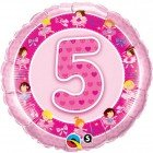 "18"" / 46cm Age 5 Pink Ballerinas Qualatex #26315"