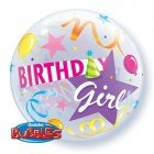 "22"" / 56cm Birthday Girl Party Hat Qualatex #27511"