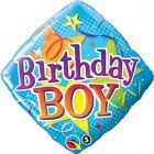"18"" / 46cm Birthday Boy Stars Qualatex #34434"