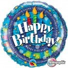 "18"" / 46cm Birthday Spiral & Candles Qualatex #35340"
