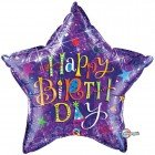 "36"" / 91cm Birthday Typography Purple Qualatex #35358"