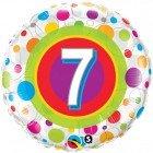 "18"" / 46cm Age 7 Colourful Dots Qualatex #41108"