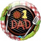 "18"" / 46cm #1 Dad Grill Qualatex #41821"