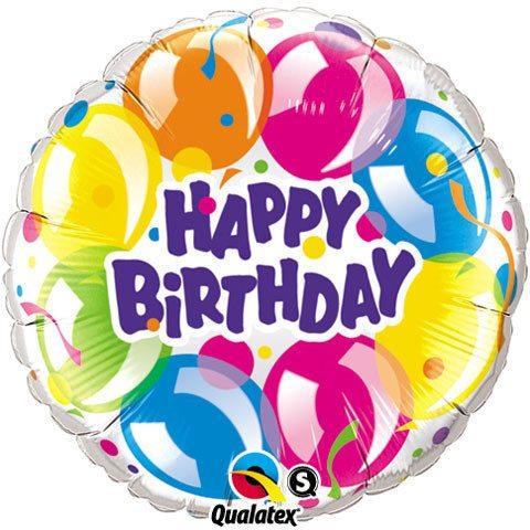 36″ / 91cm Birthday Sparkling Balloons Qualatex #16499