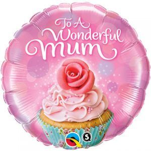 "18"" / 46cm To A Wonderful Mum Cupcake Qualatex #90585"