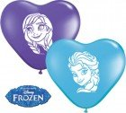 "6"" / 15cm 100ct / 100szt Anna & Elsa Faces Assortment Qualatex #12932"