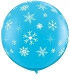 "3"" / 91cm 2ct / 2szt Snowflakes & Sparkles-A-Round Qualatex #18793"
