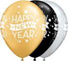 """11"""" / 28cm 25ct / 25szt New Year Confetti Dots Qualatex #22741"""